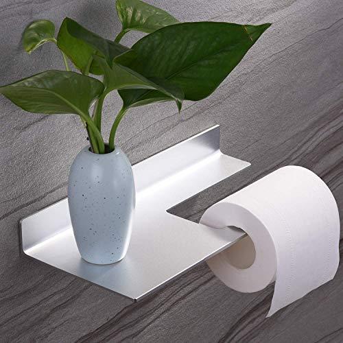 ZUNTO Porta Carta Igienica Adesivo Portarotolo Carta Igienica Senza Foratura per Bagno e Toilette, Alluminio