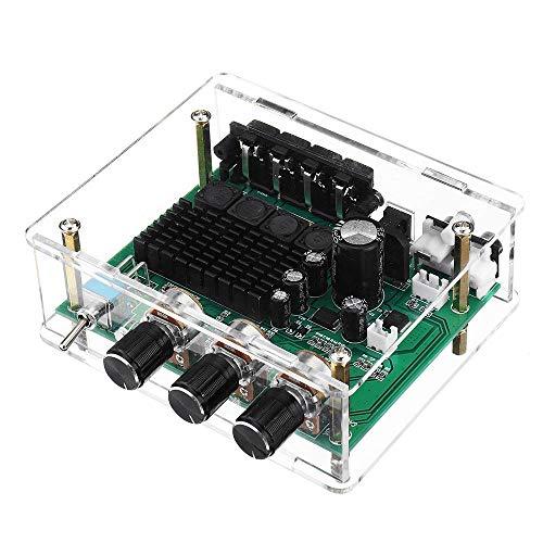 Compatibele Vervangings DC12V-24V TPA3116D2 2x80W Stereoversterker Audio Board TPA3116 digitale versterker en subwoofer voorversterker met Shell Accessory