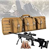 YUnZhonghe Bolsa de doble rifle, mochila de Airsoft con protección de llenado central, caza de caza, funda de transporte de arma de fuego, bolsa de armas a prueba de agua para pistola de almacenamient