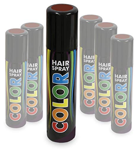 KarnevalsTeufel Hairspray Color buntes Haarspray Haarschmuck farbig (Braun)