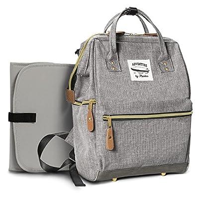 Wide Open funda bebé pañales mochila por moskka-nappy Tote Bag w/cochecito correas, cambiador y con bolsillo para niña y niño