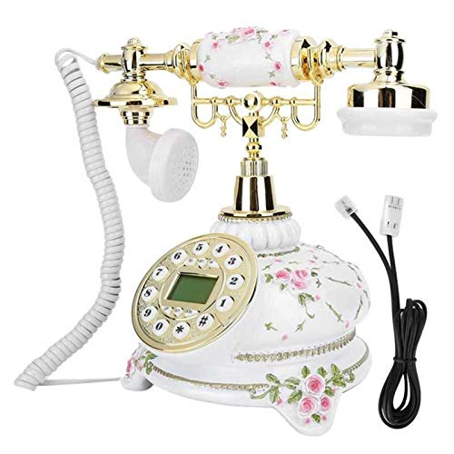 RUINAIER Comfort Volume Teléfono Fijo Inicio Oficina Retro Dial Teléfono Vintage Antiguo Teléfono Línea Línea (Línea Británica)