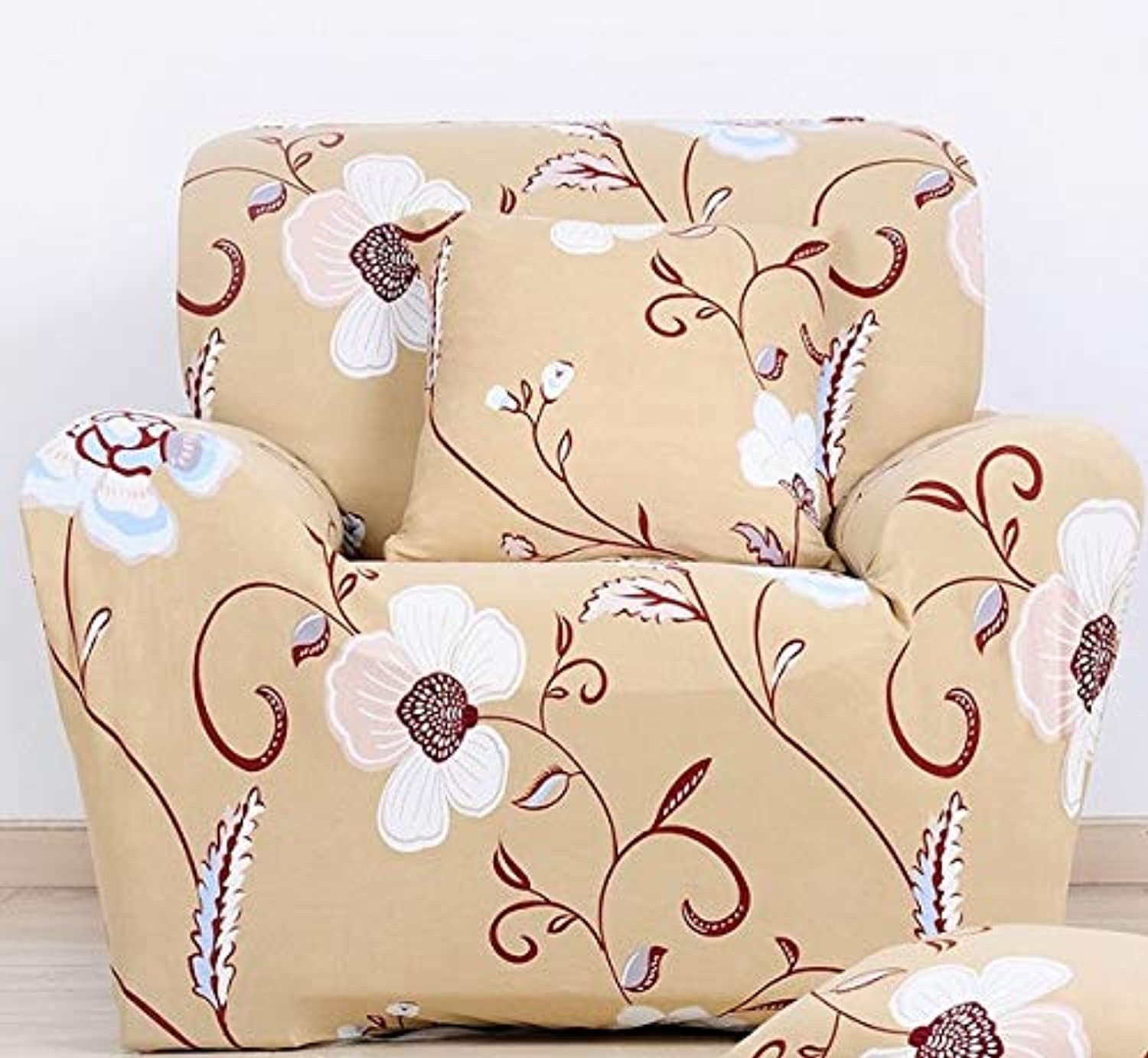 Farmerly Purple Tree Arm Sofa Chair Cover Spandex Elastic Stretch Printed 2018 New Arrival Single Sofa Cover for Living Room Home Decor   05, Single Seater