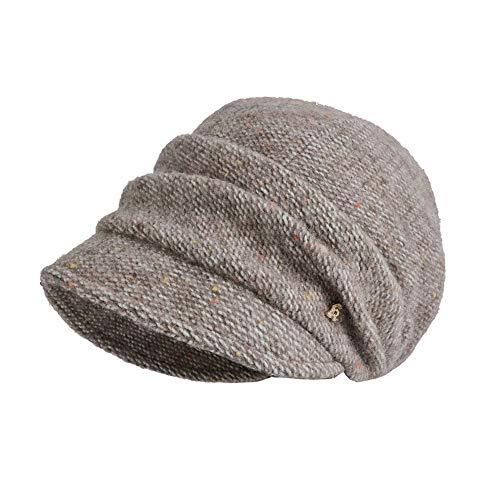 WYFC Mode Frauen Damen Vintage elegant gestrickte Winter warm Cloche Blume krempe mütze Bowler Hut Slouchy Cap