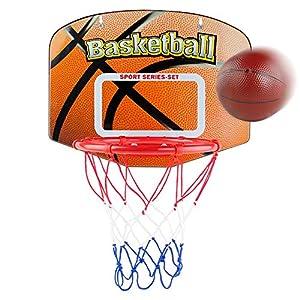 Canasta de Baloncesto Infantil Portátiles Juguetes Bebe Juegos de Aire Libre y de Interior para Bebés Juego de Aro de Tablero de Canastas Baloncesto con Pelota Juguete Deportivo para Niños 3 4 5 Años