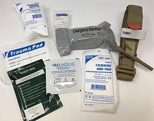 Hemorrhage Control IFAK - Trauma Pack with Tourniquet + Combat Bandage + Trauma Dressing + Chest Seal (Deluxe - Best Sellers Plus)