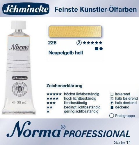 CREATIVE Schmincke Norma Professional, 35ml, Neapelgelb hell