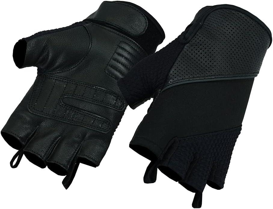 Daniel Smart Leather / Textile Fingerless Glove