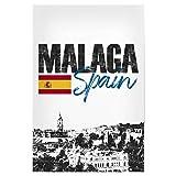 artboxONE Poster 60x40 cm Städte Malaga Skyline