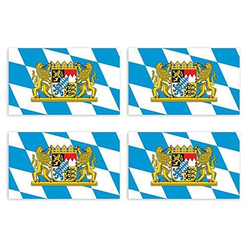 KIWISTAR Aufkleber 4,5 x 2,3 cm Bayern - Bundesland Autoaufkleber Deutschland Flagge Länder Wappen Fahne Sticker Kennzeichen
