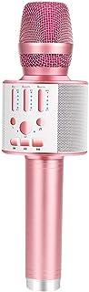 BONAOK 【2019 Upgraded】 Bluetooth Wireless Karaoke Microphone, Portable Handheld..