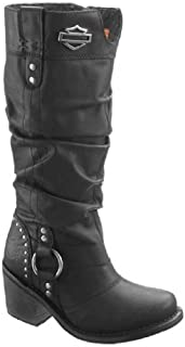 Harley-Davidson Women's Jana Black Boots. 13-Inch Shaft, 3-Inch Heels D83562