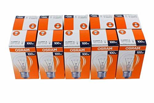Osram Glühlampe Birnenform, 10er, 100 Watt, E27, klar, 30800009