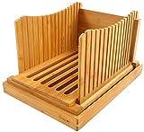 bambú Rebanadora de pan Plegable y comprimido Ajustable Guía de...