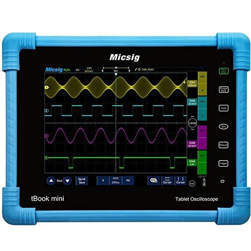 NO BRAND Osciloscopio Digital Pantalla 100MHz Tableta Digital osciloscopio de 4 Canales 28Mpts 1GSa / s osciloscopio de diagnóstico automotor táctil TFT de 8 Pulgadas con Pantalla LCD