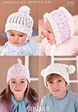 Sirdar Baby & Childrens Hats Snuggly Spots Knitting Pattern 4563 DK