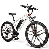 Sanvaree Neumático Gordo de Bicicleta Plegable eléctrica 3 Modos con batería de Iones de Litio 48V 350W 10.4Ah Bicicleta de montaña Urbana Adecuado para Hombres Mujeres Adultos