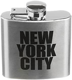New York City Letter Stainless Steel Hip Flask NY Souvenir Flask - 3 Different Sizes (2.5 oz - Small)