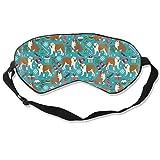 English Bulldogs Christmas Bulldog Bulldog, Engli Silk Sleep Mask Comfortable Blindfold Eye mask Adjustable for Men, Women or Kids