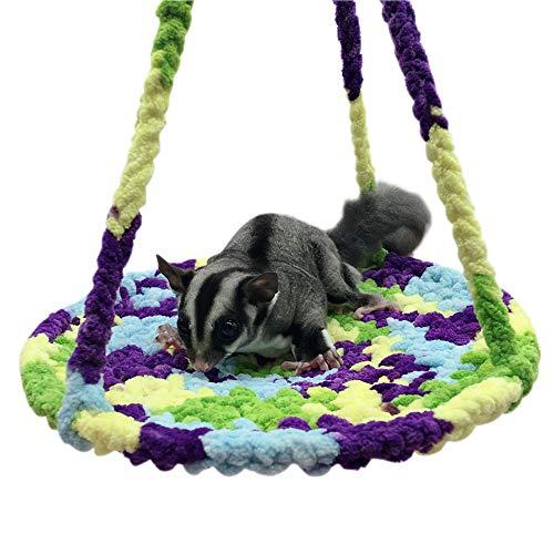 Minjie Hamster Kletterseil Netze für kleine Haustiere Hängematte Kletterseil Netz für Totoro Hamster Meerschweinchen Spielunterlage