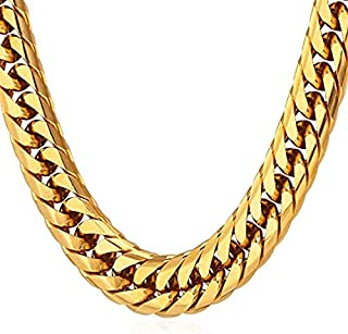 Chunky Chain 18K Gold Plated Hip Hop Jewelry Necklace for Men