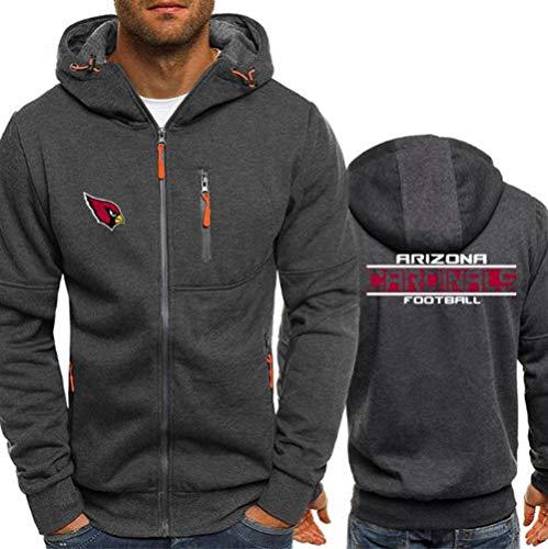 Hoodie NFL Football Jersey Arizona Cardinals Langarm-Zipper Sweatshirts Männer Herbst Jersey High Neck Hoodie Long Sleeve T-Shirt Pullover,XL