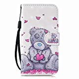 Samsung Galaxy A20E Case,PU Leather Flip Notebook Wallet Case with Magnetic Closure Stand Card Holder ID Slot Money Pouch Folio Soft TPU Bumper Protective Skin,Bear