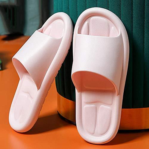 FAYHRH Antideslizantes de Casa Zapatillas De Ducha,Zapatillas de baño, Ropa para Exteriores de Verano para Mujer en Interiores, hogar Antideslizante para Hombres Home-Pink_37-38