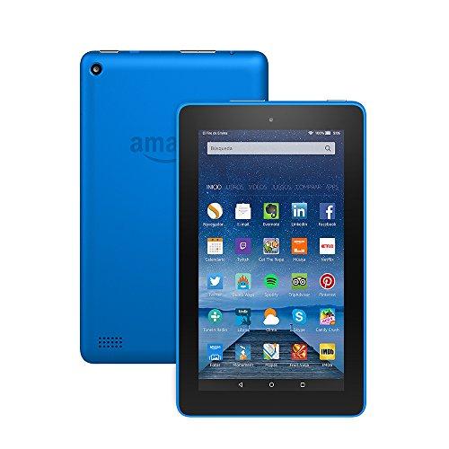 """Tablet Fire, pantalla de 7"""" (17,7 cm), Wi-Fi, 8 GB (Azul) - incluye ofertas especiales"""