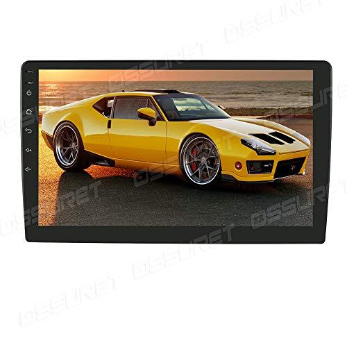 Ossuret Android 10 2G+32G 10,1 Zoll Bildschirm Universal Autoradio Radio mit Navi und Unterstützt Bluetooth DAB + USB Android Auto WiFi 4G