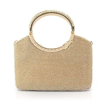 Kisschic Womens Handbag Crystal Rhinestone Evening Clutch Bags Party Wedding Clutch Purses