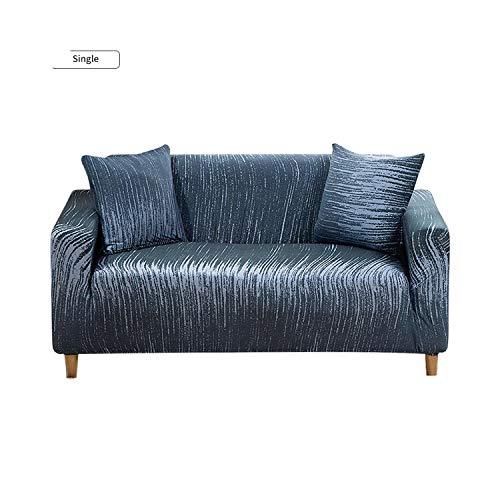 Funda de sofá universal de la cubierta del sofá de estilo geométrico elástico para la sala de estar en forma de L sofá elástico muebles fundas, Morado, 2-seater 145-185cm