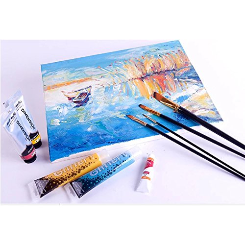 Lasten 21 Pcs Paint Brush Set,Professional Paint Brushes Nylon Hair Artist Acrylic Paint Brushes for Acrylic Watercolor Oil Gouache Painting