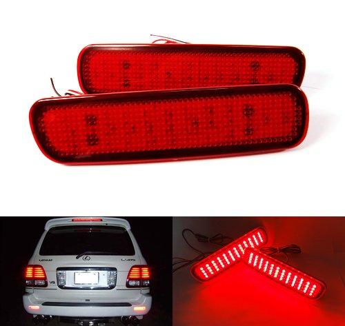 Lot de 2 réflecteurs LED pour pare-chocs arrière - Pour Land Cruiser Amazon 100 LX470