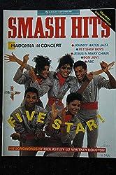 SMASH HITS UK vol. 9 n° 17 august 1987 COVER Five Star - Madonna - Pet shop Boys - ABC