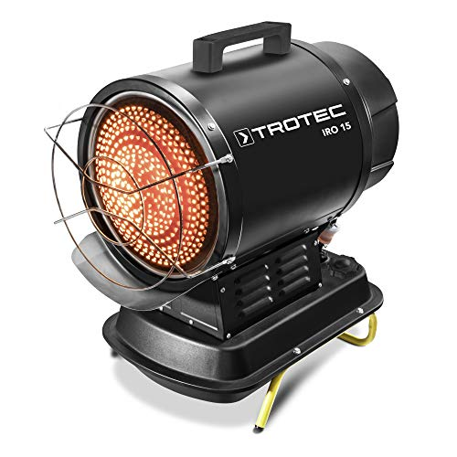 TROTEC Infrarot-Ölheizer IRO 15 Thermostat Tankfüllstandanzeige Überhitzungsschutz Baubeheizung Enteisung