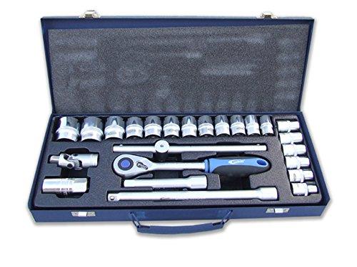 Labor 17185 dopsleutelset, 1/2 inch, 24-delig, zilver