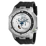 Technomarine TM-216008 Men's Multifunction Watch 48mm Silver-Tone Manta Diver Black Rubber Strap 200M