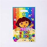 MZ La fiesta de cumpleaños Suministros placas Copa de papel desechable Vajilla Servilletas Mantel Baby Shower Decoración (Color : Gift Bag 6 pcs)