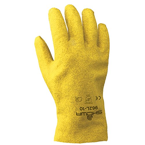 SHOWA 962 Fully Coated PVC Glove with Cotton Jersey Liner,...