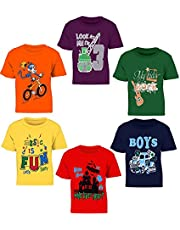 Kiddeo Kids Boys t Shirts(New 01) (Pack of 6)