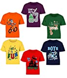 Kiddeo Boys' T-Shirt (Pack of 6) (kiddeo-20 Multicolored 2-3 Years)
