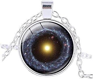 vdfr521?Universeペンダント星雲ネックレスGalaxyネックレスUniverse Spaceアウトスペースのジュエリー