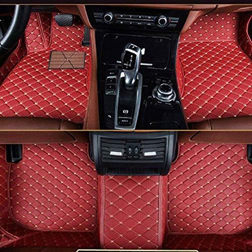 muchkey Leather Carpet Floor Mats Car Mats Red Wine Car Floor Mats Fit For BMW 3 Series E92 E93 318i 320i 325i 328i 330i 335i 320d 325d 2008 2009 2010 2011 2012