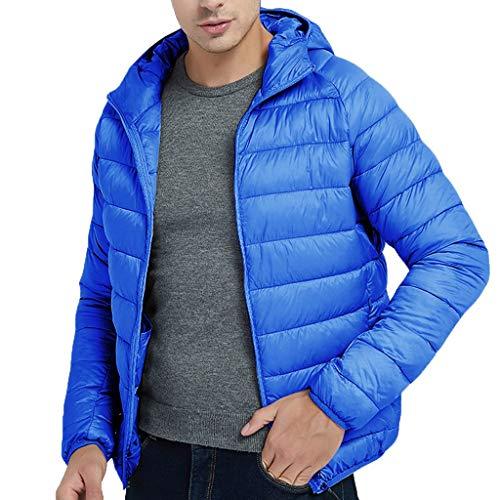 95sCloud Kapuzenjacke Wintermantel Herren Männer Junge Daunenjacke mit Kapuze Reißverschluss-Mantel Outwear-Jacken-Spitzen-Bluse Arktis-Expedition warme Outwear Top Steppjacke Jacke Parka (Blau, XL)