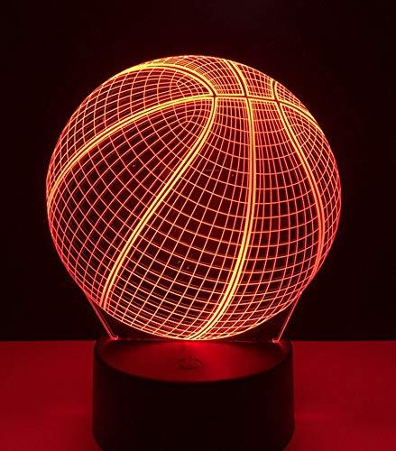 Decoración de luces de Halloween 3D LED luz nocturna figura de acción de baloncesto toque luces de colores atmosféricos de Halloween
