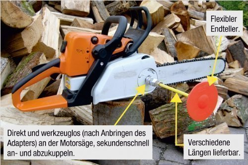 Cut Contol 0,33m, Ablänghilfe für Motorsägen, Kettensägen, Brennholz, Holzstämme, passen für fast alle Motorsägen