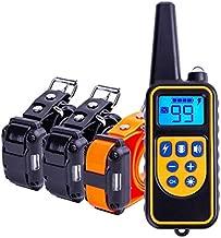 Trainertech DT800 Original, 800 Metros para 1, 2 o 3 Perros a la Vez 100% Sumergible - 4 Modos - Funcionamiento Sencillo. Diseño ergonómico y pequeño (C- con 3 Collares receptores)