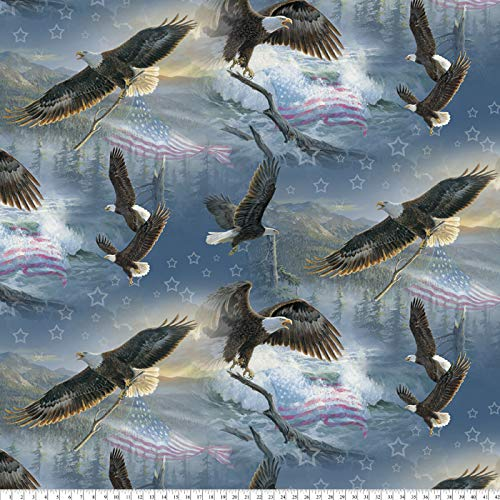 American Eagles Anti-Pill Premium Fleece Fabric by The Yard