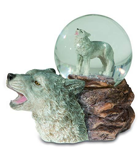 Impexit Wolfskopf, Schneekugel, 60 mm, Kunstharz, 10,5 / 11,5 / 6 cm